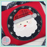 Santa Swirl Beard Applique - embroidery-boutique