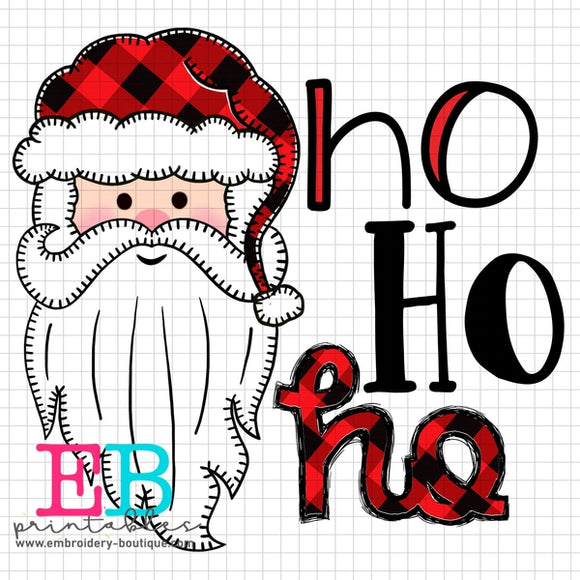 Santa Long Beard Boy Printable Design PNG - embroidery-boutique