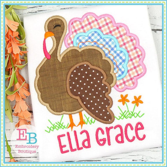 Sassy Turkey Satin Applique