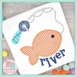 Fish on the Line Zigzag Applique