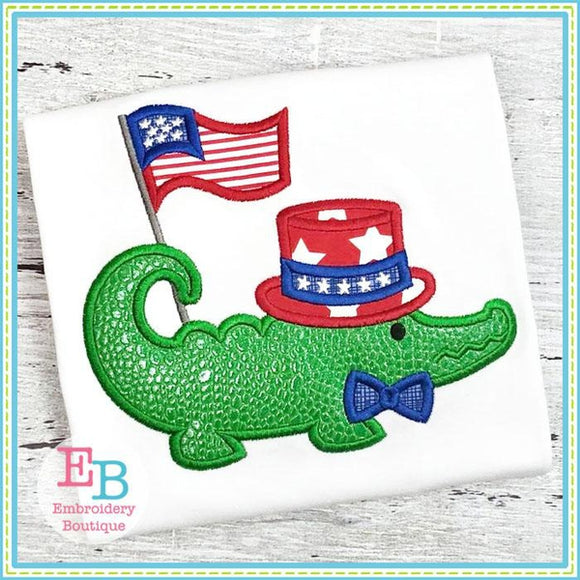 Gator Flag Applique - Embroidery Boutique