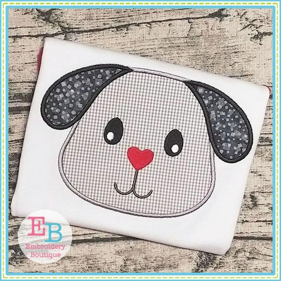 Puppy Head Applique, Applique