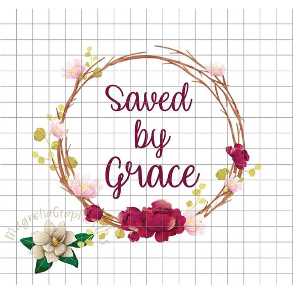 Saved by Grace PNG Printable