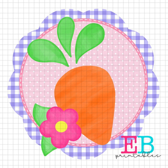 Scalloped Carrot Sublimation Printable Design PNG
