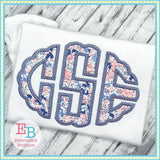 Mermaid Scallop Oval Alphabet - Embroidery Boutique