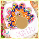 Turkey Scribble Applique - bow and no bow files included