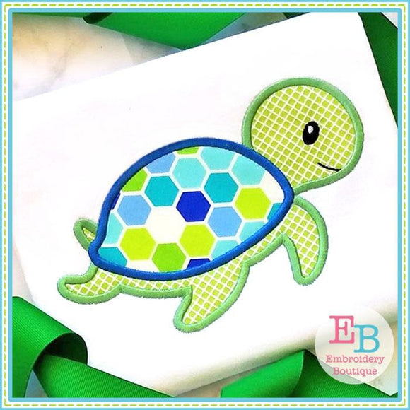 Sea Turtle 2 Applique - Embroidery Boutique