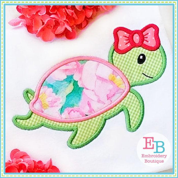 Sea Turtle Bow 2 Applique, Applique