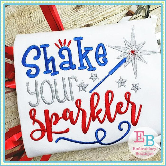 Shake Your Sparkler Embroidery, Embroidery