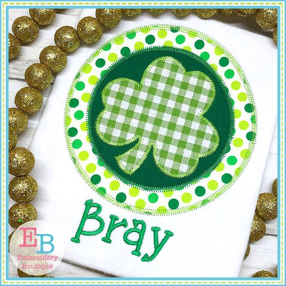 Shamrock Circle Applique