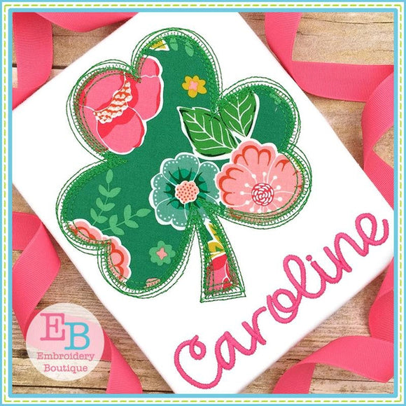 Scribble Shamrock Applique