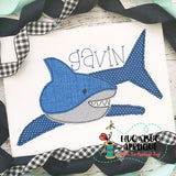 Shark 1 Bean Stitch Applique Design, Applique