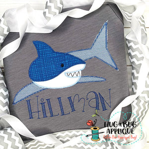 Shark 1 Zig Zag Stitch Applique Design