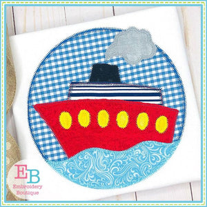 Ship Circle Zigzag Applique
