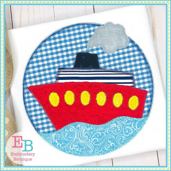 Ship Circle Zigzag Applique, Applique