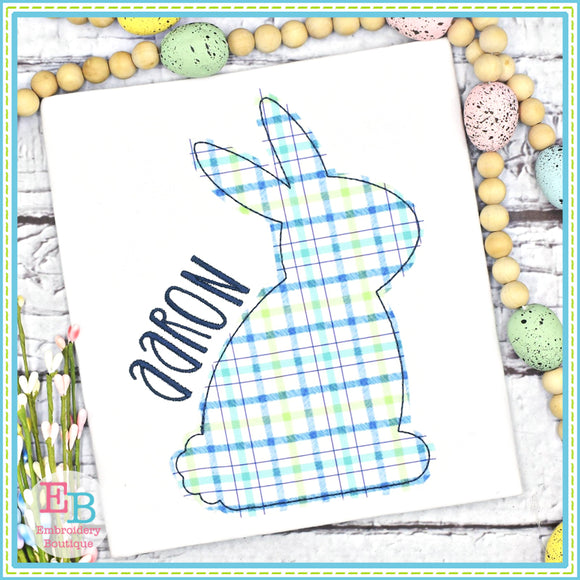 Simple Bunny Bean Stitch Applique, Applique