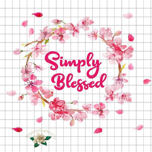 Simply Blessed PNG Printable Design