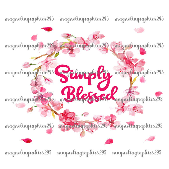 Simply Blessed Printable Design PNG