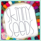 Skinny Seeds Embroidery Font Bundle, Embroidery Font