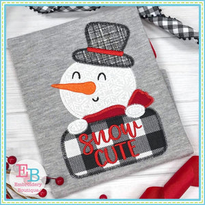 Snow Cute Boy Applique