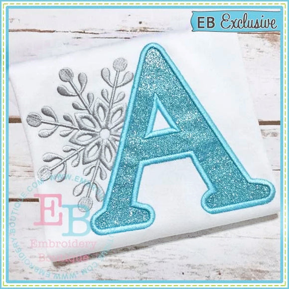 Snowflake Applique Alphabet-Embroidery Boutique