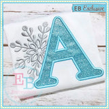 Snowflake Applique Alphabet, Applique Alphabet