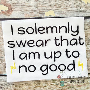Solemnly Swear Halloween Embroidery Design, Embroidery
