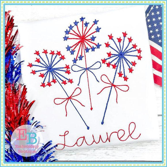 Sparkler 2 Embroidery Design