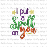 Spell On You Halloween Embroidery Design, embroidery
