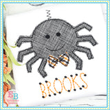 Spider Bow Tie Bean Stitch Applique, Applique
