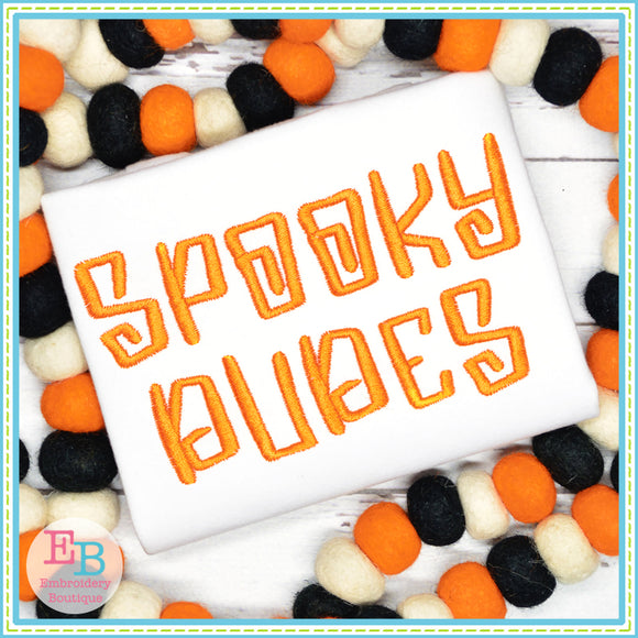 Spooky Embroidery Font, Embroidery Font