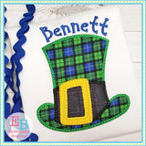 St Patty's Day Hat Applique