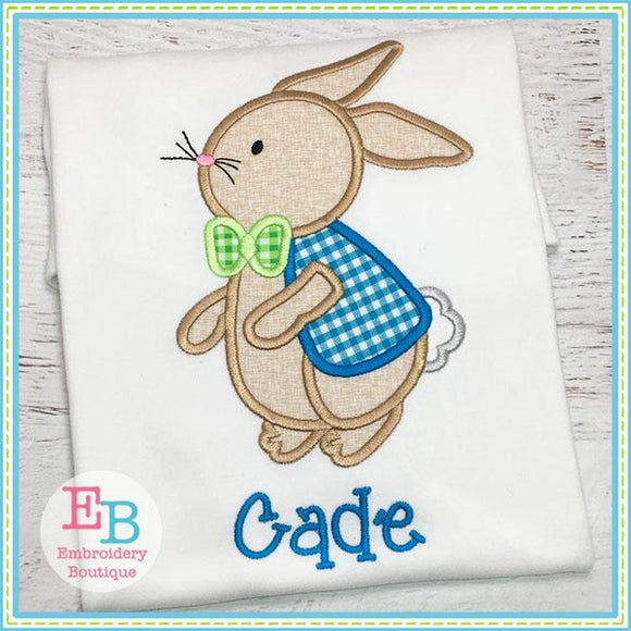 Bunny Boy 2 Applique - Embroidery Boutique
