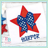 Star Bow 2 Applique - embroidery-boutique