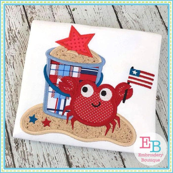 Star Crab Applique - embroidery-boutique