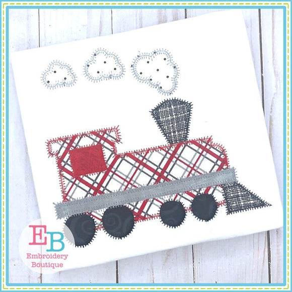 Steam Engine Train Applique