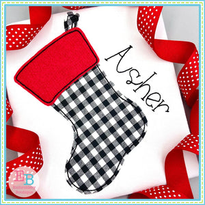 Stocking No Tag Bean Applique