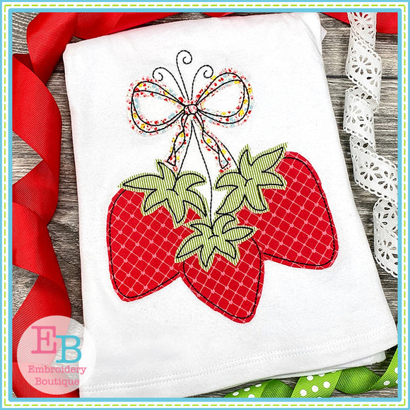 Strawberry Bunch Bean Applique