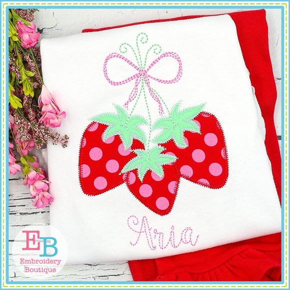 Strawberry Bunch Zigzag Applique, Applique