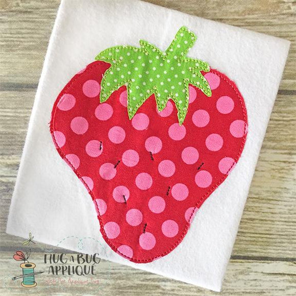 Strawberry Bean Stitch Applique Design, Applique
