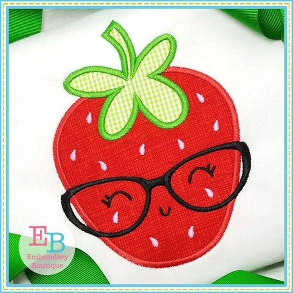 Strawberry Glasses Applique - Embroidery Boutique