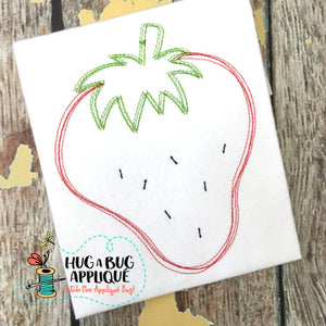 Strawberry Scribble Stitch Embroidery Design-Embroidery Boutique