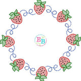 Strawberry Circle Design, Embroidery