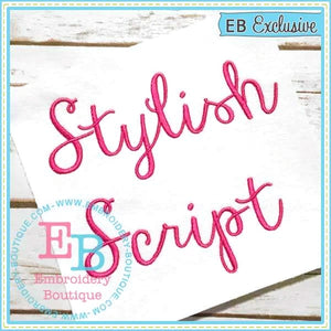 Stylish Script Embroidery Font-Embroidery Boutique