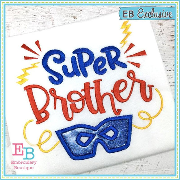 Super Brother Applique - embroidery-boutique
