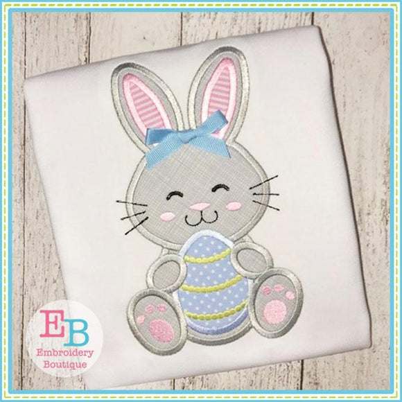 Bunny Egg 2 Applique - Embroidery Boutique