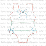 Swimsuit Bean Stitch Applique Design