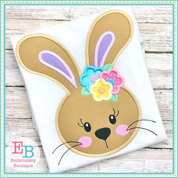 Sweet Lil Bunny Girl Face Applique