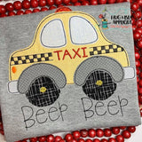 Taxi Bean Stitch Applique Design
