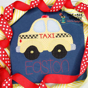 Taxi Blanket Stitch Applique Design
